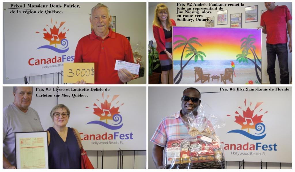 Gagnants du Tirage  CanadaFest 2019