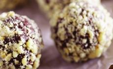 Truffes croustillantes au beurre d'arachide et au chocolat